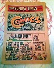 Delaware County Sunday Times Comics April 1985 vintage