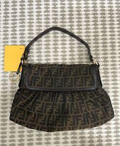 Authentic  Fendi Zucca pattern Tote Shoulder Bag