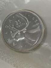 1965 Canada Silver Quarter 25 Cents PROOF LIKE SEALED