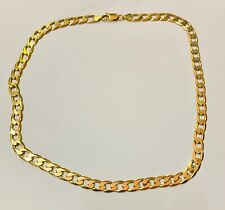 """9ct Solid Gold Kerb Link Gents Chain 20"" Heavy 32.9g"""