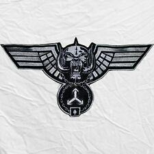 "Motorhead Hammered Wings Logo Embroidered Big Patch Lemmy Kilmister 12"" Warpig"