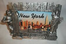 New Souvenir Picture Frame NEW YORK King Kong Statue of Liberty Silver Fits 4x6