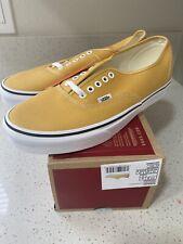 Vans Authentic Era (Men's Size 11.5) Ochre True White Classic Skate Shoes
