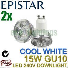 2 X EPISTAR LED GU10 15W bulb downlight spotlight globe lamp COOL WHITE 240V