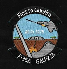 F-35A  AF-2 GAU-22A First to Gunfire Military Patch
