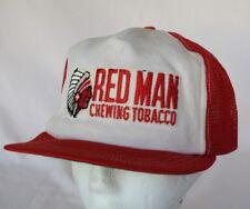 Vtg Retro Red Man Chewing Tobacco Snapback Trucker Mesh Hat Cap SHIPS NEXT DAY!