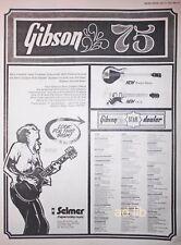 "GIBSON GUITARS 75 NEW MODELS - RIPPER, L6-S, UK 16"" x 12"" ADVERT/AD 1975"
