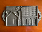 John Wright VTG 1985 Double Sided Cast Iron The Gingerbread House Mold Pan Cake