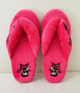 Betty Boop Hot Pink Plush Slippers Women's Size 7/8 Soft Fabric Kawaii Lounge