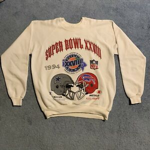 Buffalo Bills Super Bowl Crewneck Jim Kelly Dallas Cowboys NFL SIZE X-LARGE