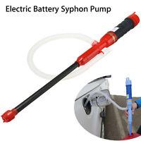 Automatic Electric Aquarium Fish Petrol Oil Tank Water Siphon Pump Cleaner Pipe