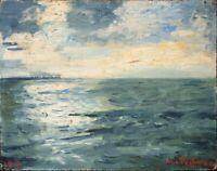 Max von Pechmann - Seestück - Öl auf Leinwand - 1917