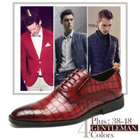 Formal Shoes Wedding Office Men Leather Dress Lace Up Oxfords Pointed Toe Casual