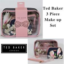 TED BAKER MAKE UP CASE 3 PIECE SET PVC COSMETIC TRAVEL WASH BAG VANITY GIFT BAG