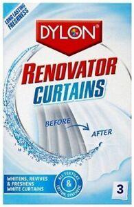 Dylon® Curtain Renovator Brilliant Whitener Nets, Violes, Muslin - 3x Sachets