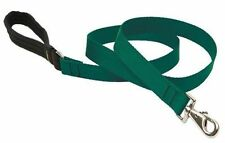 "Lupine Dog Leash Lead 1"" GREEN 4 Ft Nylon Padded Handle New Made in USA"