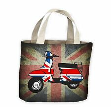 Mod Scooter Union Jack Tote Shopping Bag For Life