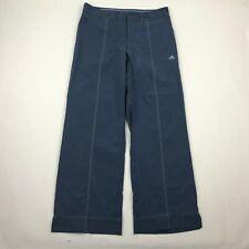"""Adidas Clima365 Women Blue Wide Leg Athletic Pants sz 12 UK (Actual 33x30.5"""")"""