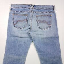 Women's Hollister Boot Cut Destroyed Jeans Juniors Size 9 x 32 100% Cotton CR6