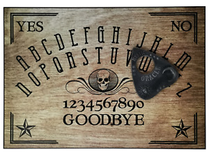 A4 Hand Finished Skull Wood-Effect Ouija Board with Mystic Oracle Planchette