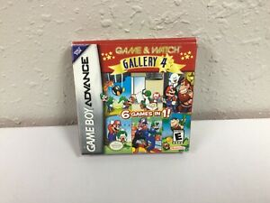 Game And Watch Gallery 4 GBA Gameboy Advance Box, Manual