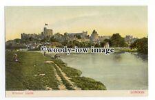 tq2346 - Berks - Man Fishing in The Thames, opposite Windsor Castle - Postcard
