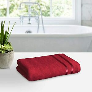 450 GSM Ultra Soft, Super Absorbent, Antibacterial Treatment, Bath Towel Red
