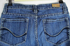 REFUGE Womens Juniors Size 5 Blue Stretch Slim Straight Low Rise Med Wash Jeans