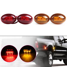 For 1999-2010 Ford F350 Amber/Red Side Fender Marker Dually Bed LED Light Kit