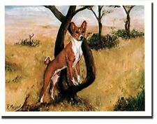 New Basenji In Field Pet Dog Notecards 6 Note Cards & 6 Envelopes Ruth Maystead