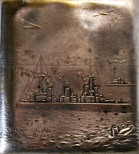 Rare Case IN Cigarettes Collection Militaria WW1 Combat Naval 1914 1916