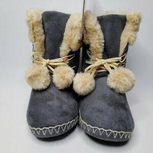 Kooba Warm Soft Slippers Boots Size MEDIUM (6.5-7.5)Gray