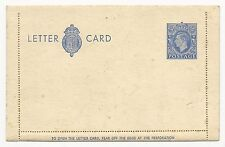 Great Britain H&G #14a Unused Letter Card 1940