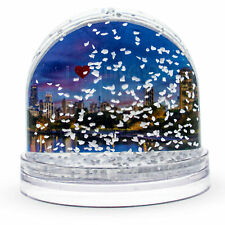 Chicago Clear Acrylic Plastic Snow Water Globe Picture Frame