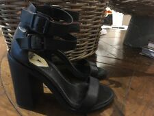 c8c962025ee6 WINDSOR SMITH Womens Black Heel Buckle Size 6.5 Immaculate Worn Twice!