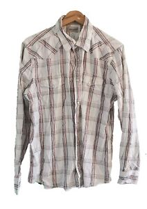 WRANGLER WHITE CHECK CASUAL SHIRT - Size XL