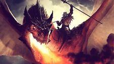 Poster Magic The Gathering: THE GATHERING MTG Cards Fantasy Dragon #1