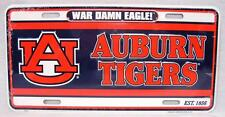 Auburn Tigers War Damn Eagle Car Truck Auto Tag License Plate AU Go Tigers WDE