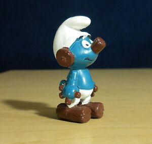 Smurfs 20175 Clockwork Smurf Robot Rare Vintage Figure PVC Toy Figurine 80s Peyo