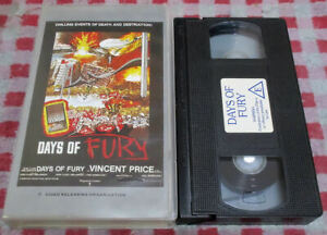 Days Of Fury - VHS video - man made/natural disasters - hosted by Vincent Price