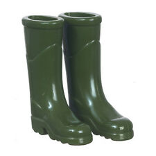 Green Outdoor Wellington Boots, Dolls House Miniature Accessory, Wellies
