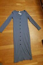 River Island BNWT ribbed blue midi dress size 10