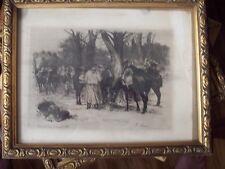 EAU FORTE <AUGUSTE LANCON <BOIS DE VINCENNES 1870  <ENCADREMENT S VERRE