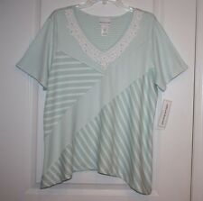 NWT Alfred Dunner Ladies Women's DayDreamer Top With Bead Accents - XL