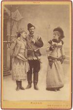 Preziosi, Vois, Nadaud Acteurs français Photo Nadar Cabinet Vintage ca 1890