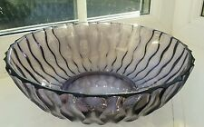 Unusual vintage Czech Sklo union purple zig zag pattern bowl dating from 1950/60