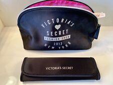New!  Victoria's Secret 2013 Fashion Show Cosmetic Bag w/ 4-Piece Brush Set