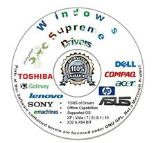 Windows Drivers CD for Microsoft Windows 10 8.1 8 7 VISTA XP 2016 Auto Disc Disk