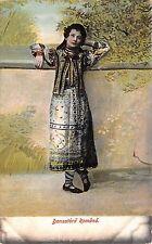 B76489 Romania Port Popular Dansatoare  1907 dance  costumes types folklore