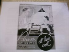17 Page Photocopy of Vintage Homecraft Power Tool Woodworking Tools Catalog J&H